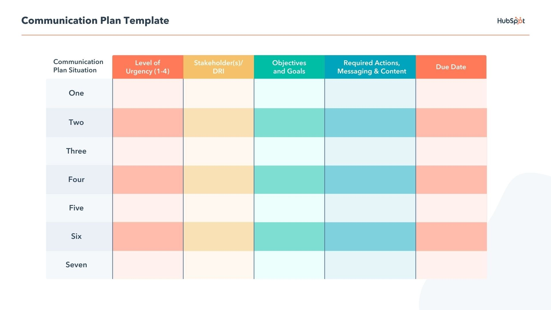 free editable Communication Plan pdf Template