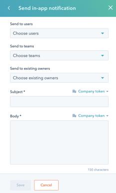 Company Send Notification