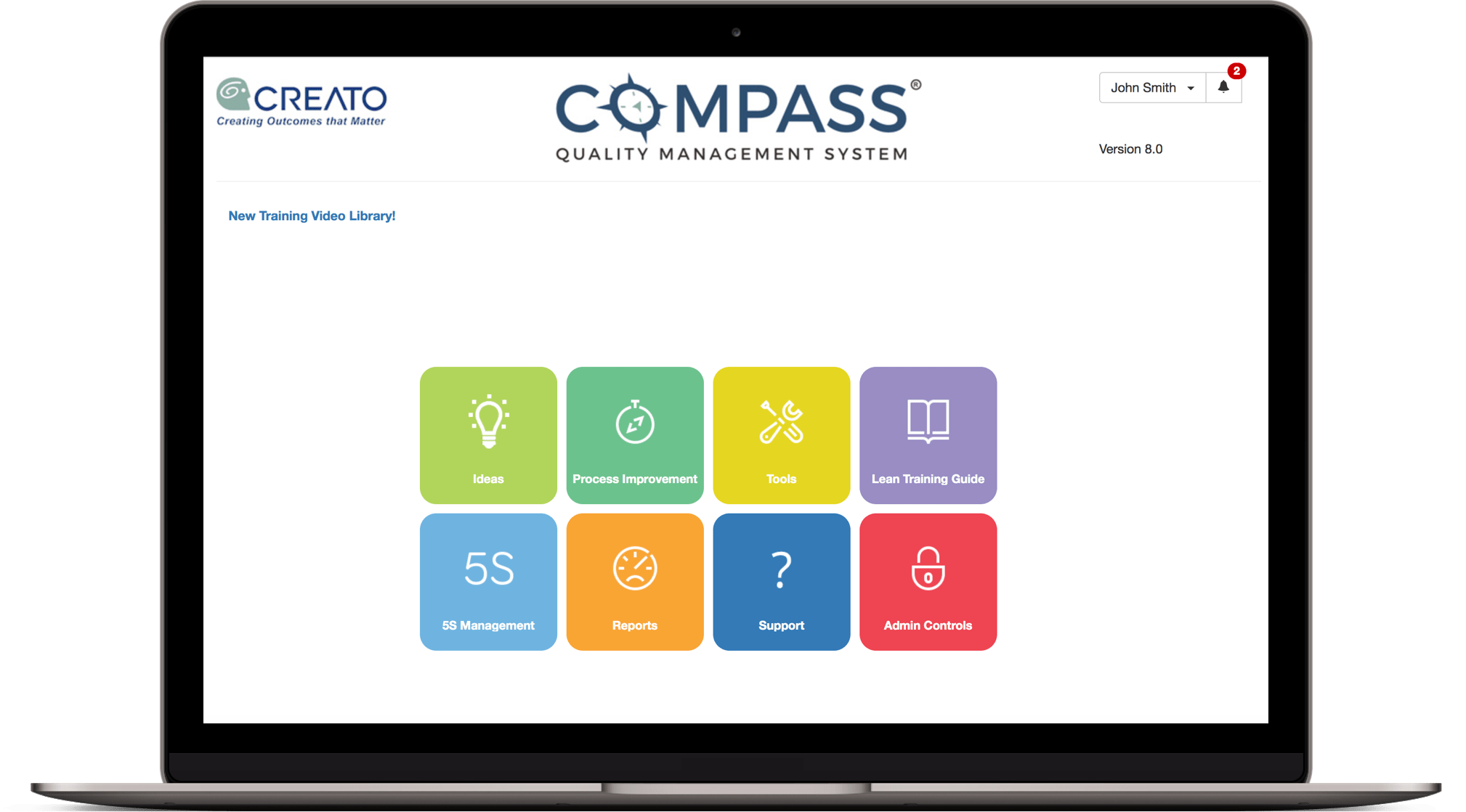Compass Quality Management System Dashboard by Creato