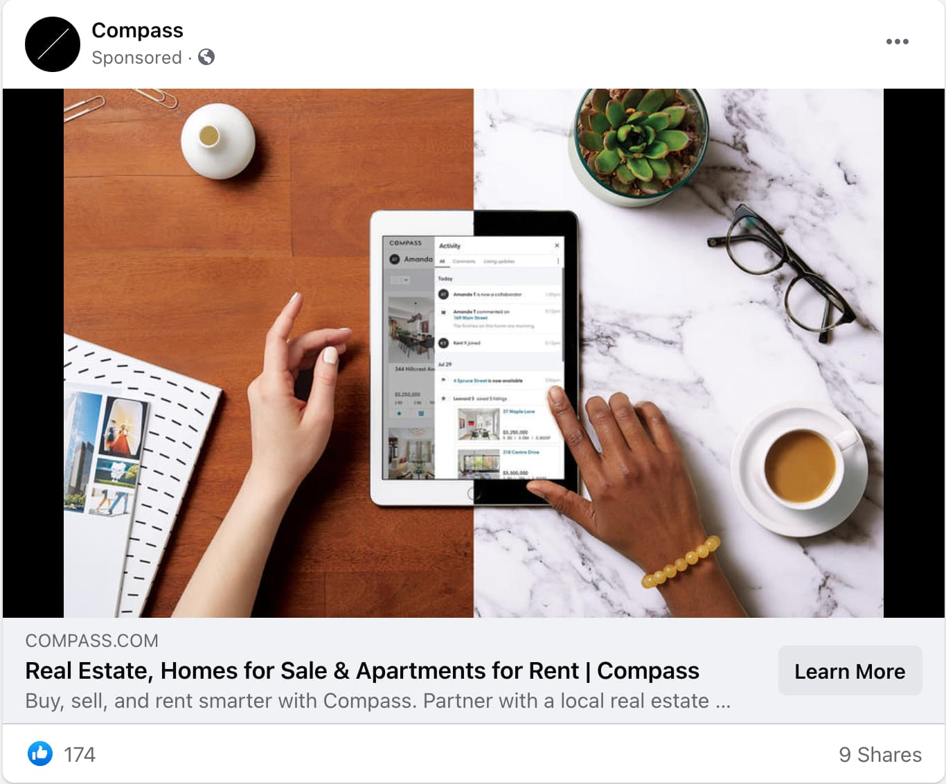 Compass Real Estate Ad