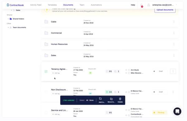 Contractbook eSignature platform