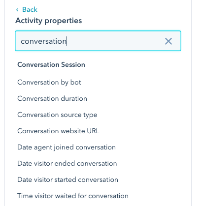 Conversation Criteria
