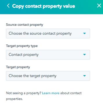 Copy Contact Property