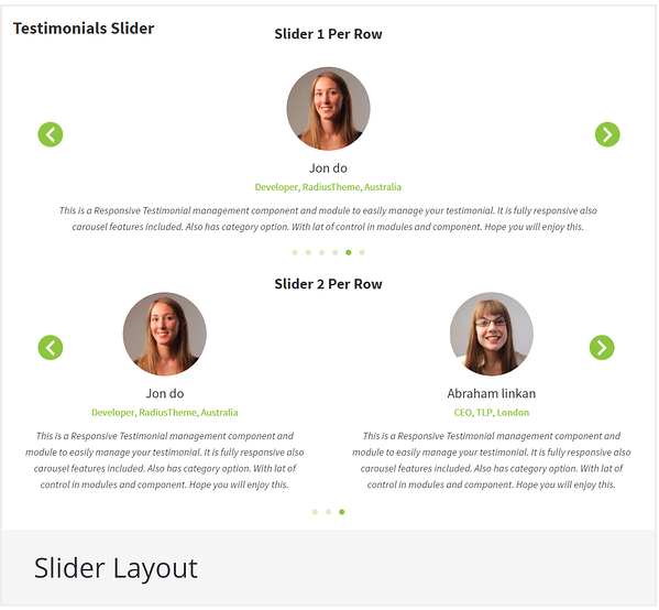 WordPress slider plugin: Testimonial Slider
