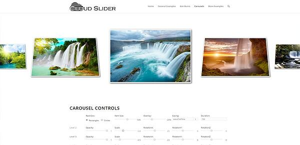 WordPress slider plugin: Cloud Slider