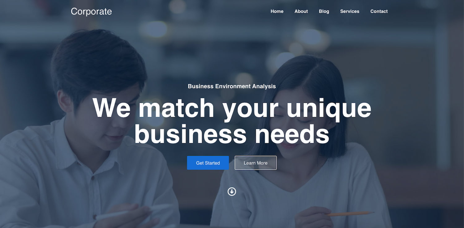Corporate demo of Responsive theme can be used with BuddyPress plugin