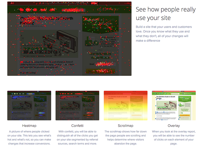Example of CrazyEgg's heatmaps