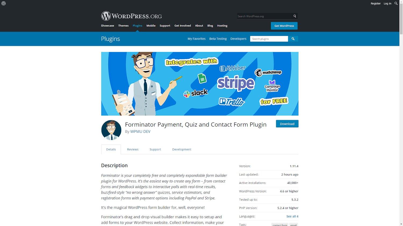 Forminator WordPress Plugin Contact Form Template