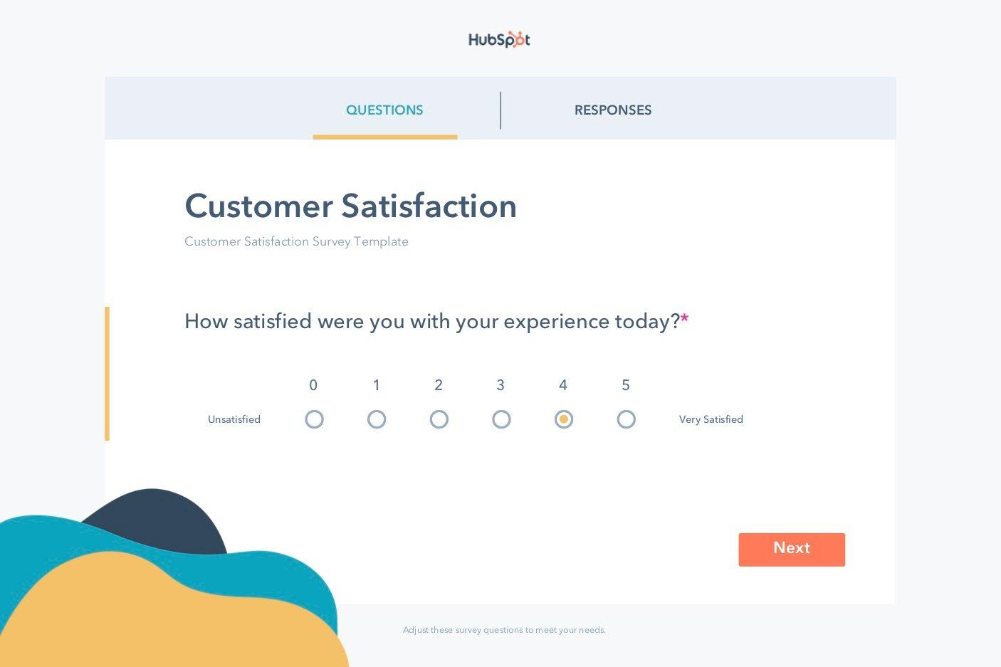 free editable Customer Satisfaction survey template