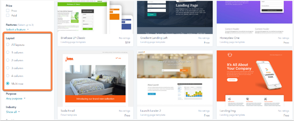 Use The Template Marketplace To Be A More Efficient Marketer - Two column email template