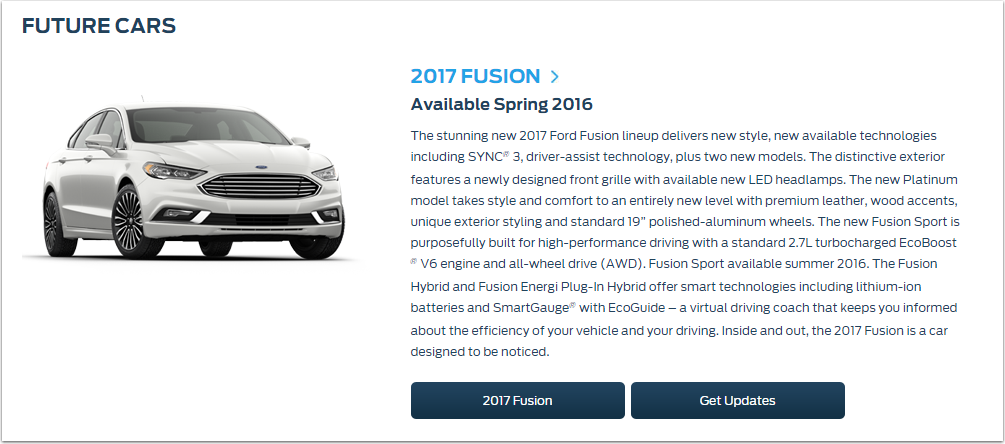 Ford Future Cars