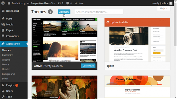 Install and customize a theme for video sharing sites in your WordPress dashboard