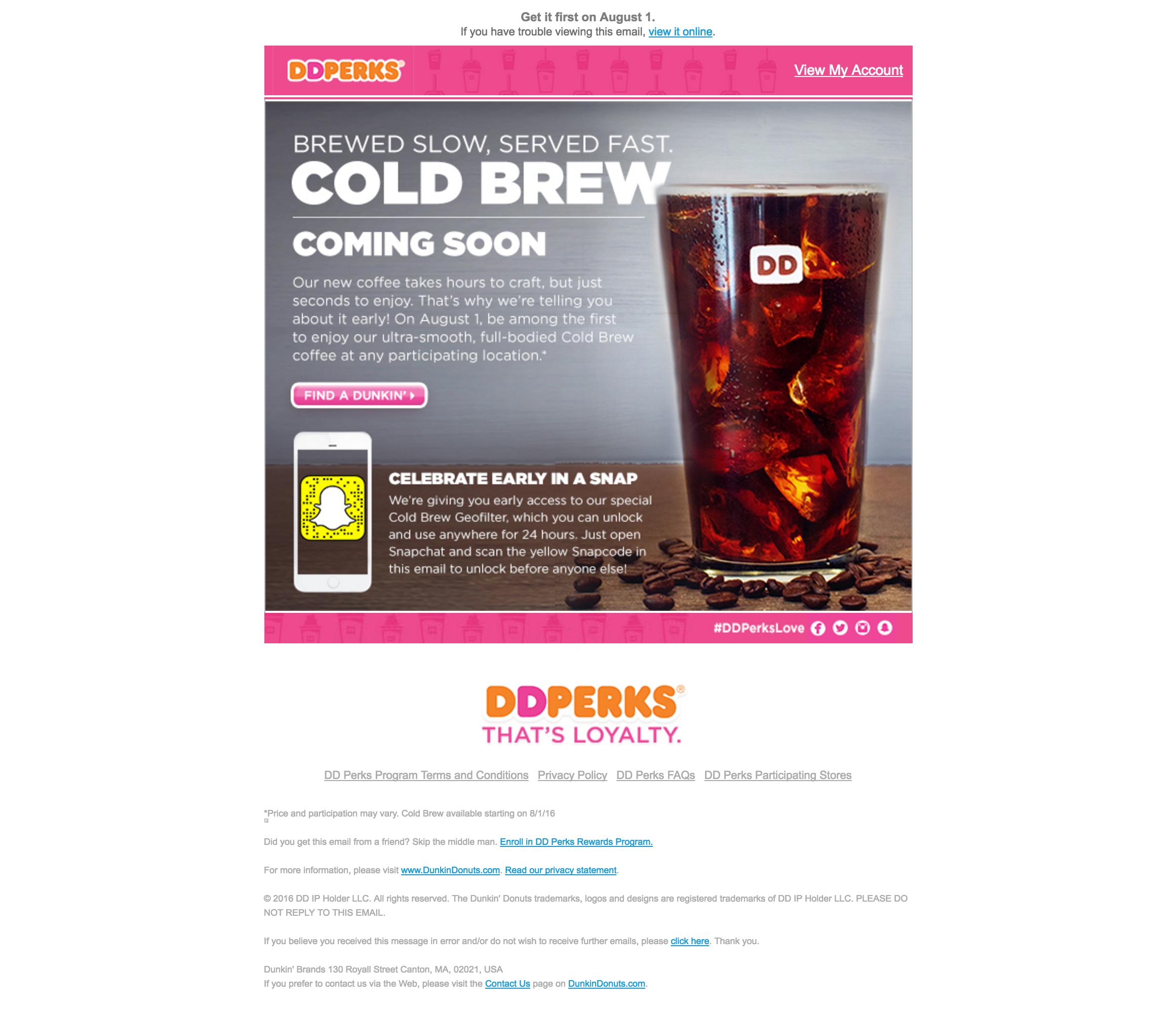 DDPerks Email  lead nurturing example