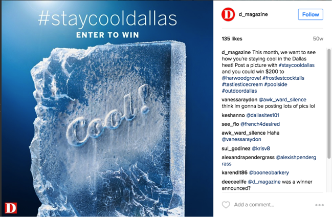 #staycooldallas instagram contest