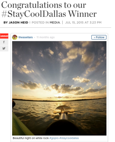 #staycooldallas instagram contest winner announcement on blog