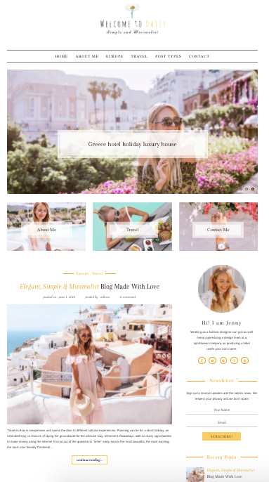 Daisy blogging theme demo