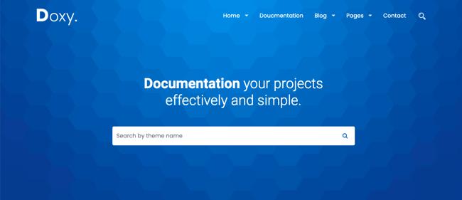 Default demo of web hosting WordPress theme DoxyLite