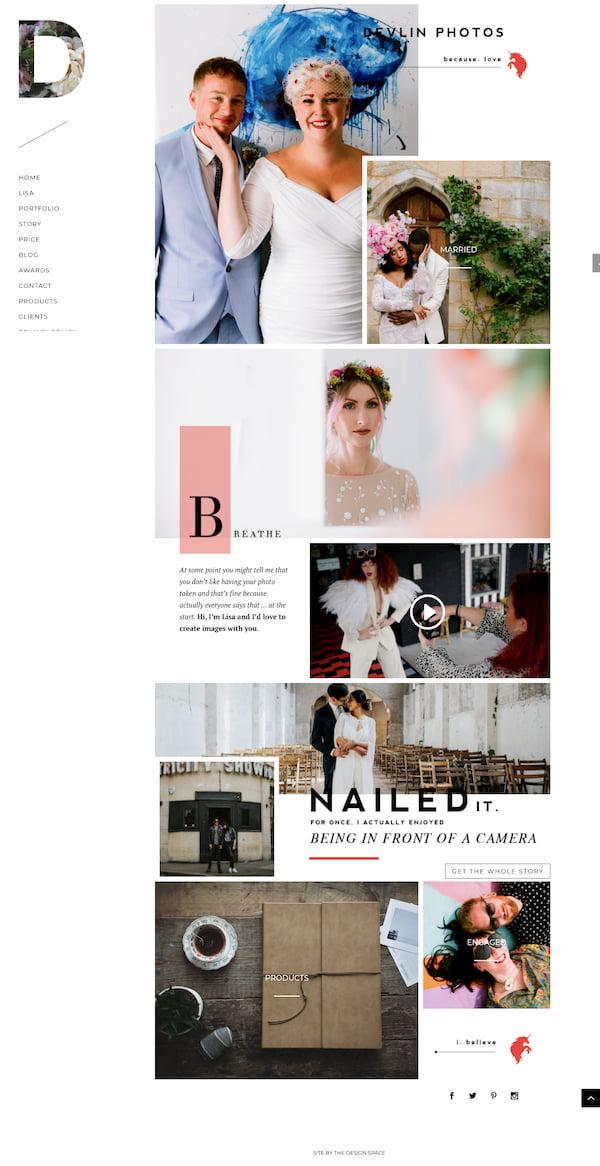 Devlin Photos website built with Divi theme