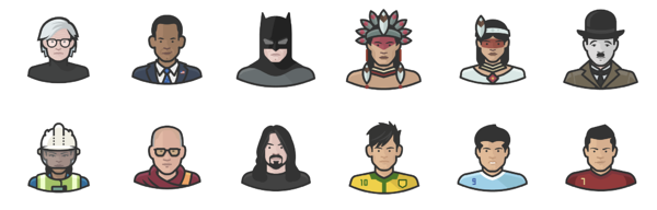Diversity avatar free icon set