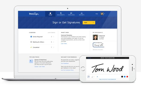 DocuSign eSignature platform