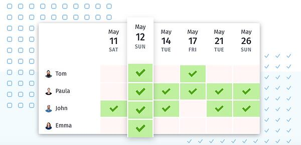Doodle Best Scheduling Polls and Surveys - calendar view