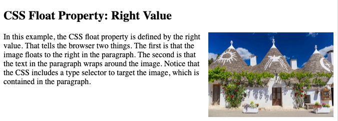 image in paragraph with css float property