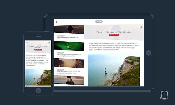 Mobile display side by side with desktop display of a travel site built with appful plugin