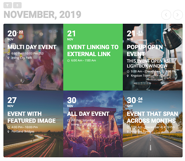 Demo of custom event calendar you can create with EventON plugin