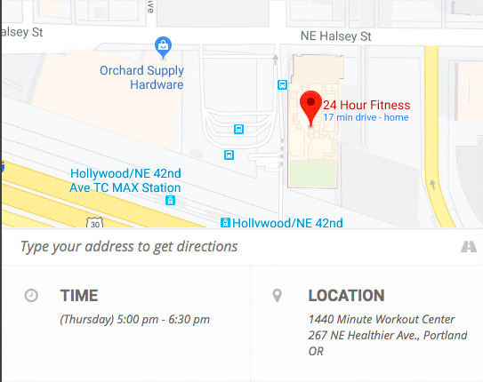 Use EventON's integration with Google Maps to display location and directions on your event invite