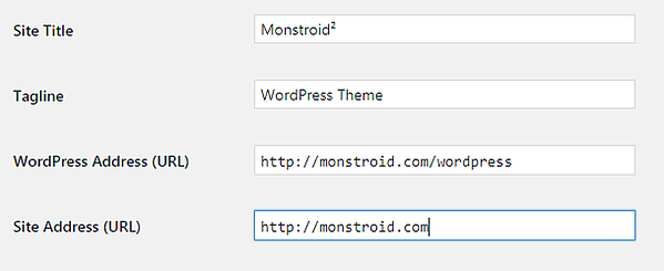 User deleting /wordpress/ from site address but leaving it in wordpress address in general settings of dashboard
