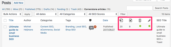 Use Yoast SEO's internal linking tool to improve your site structure