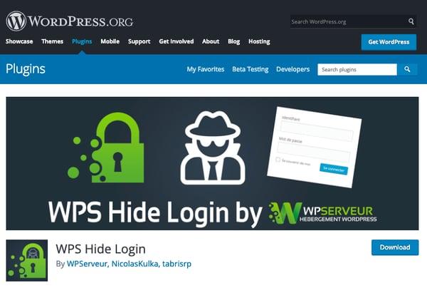 WPS Hide Login in official WordPress plugin directory
