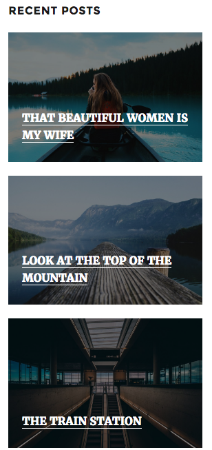 A Smart Recent Posts Widget in the modern style might look like this on front-end of your site