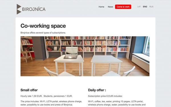 A multilingual site built with Mozello website builder