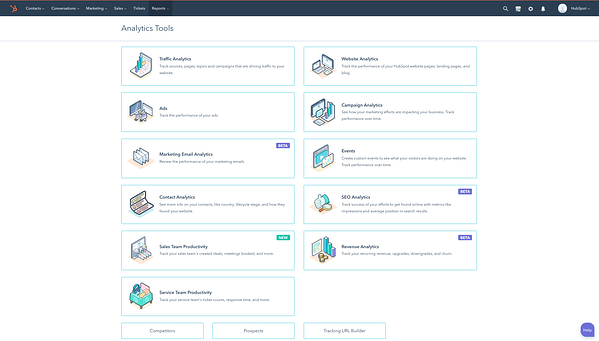 CMS Hub, HubSpot's CMS, includes built-in analytics tools among other features