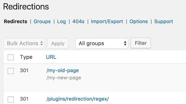 Redirection free WordPress plugin