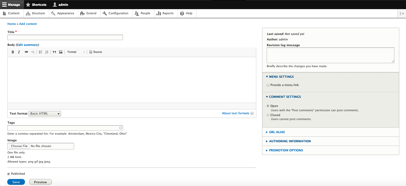 Drupal's content editor looks outdated and unintuitive when compared to WordPress's and Joomla's