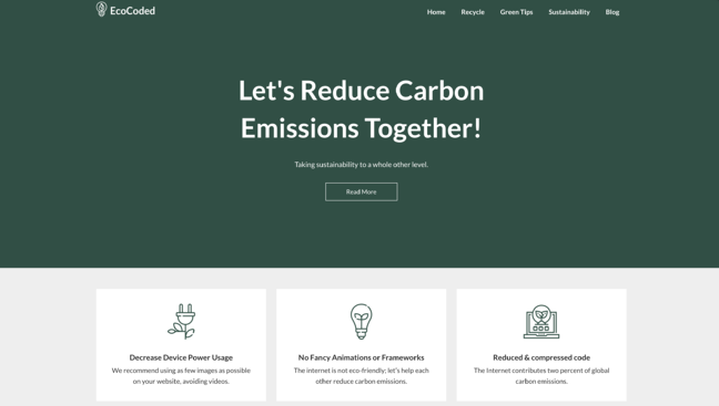 Ecocoded WordPress Theme