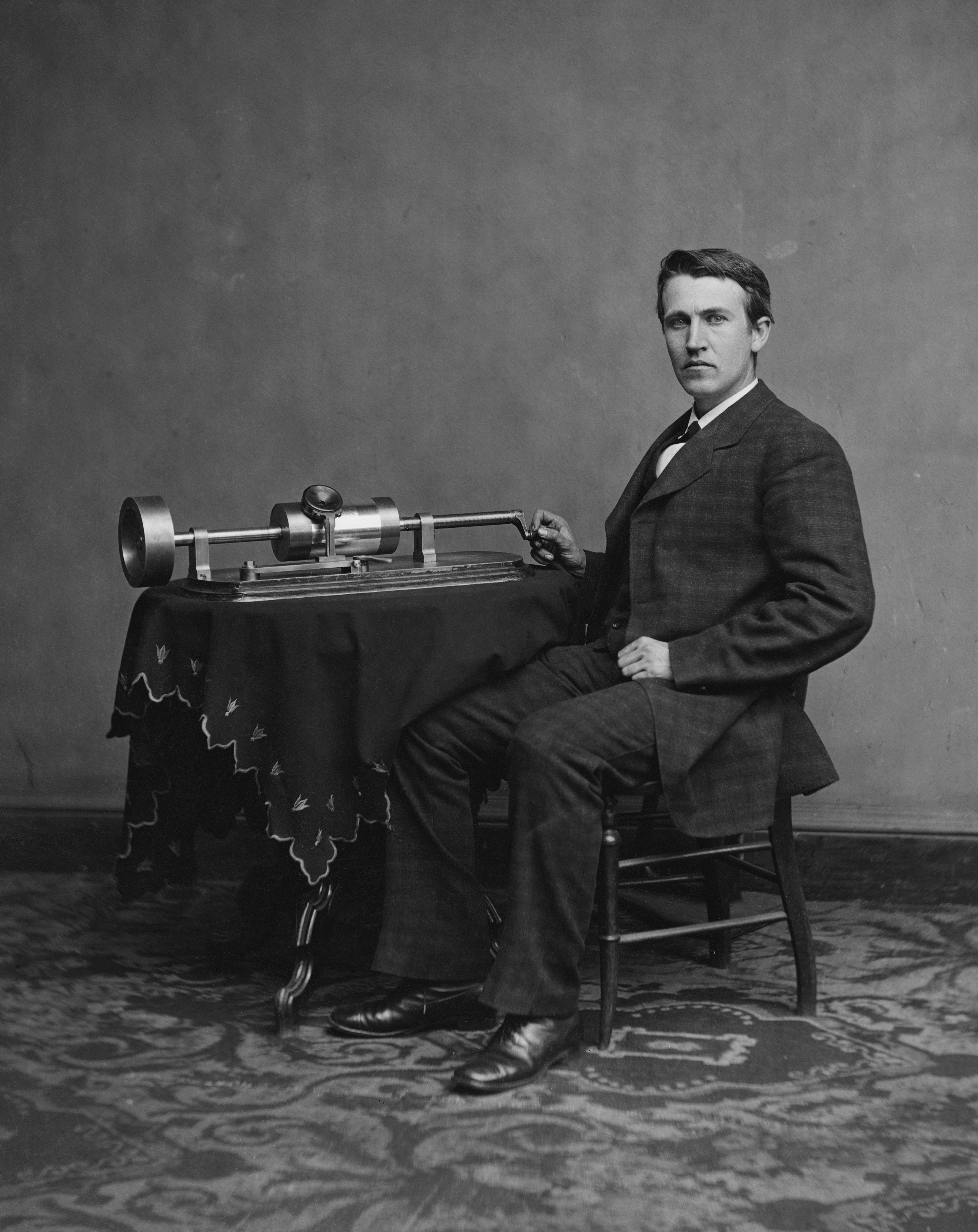 Edison_and_phonograph_edit1.jpg  From the Phonograph to Spotify: The History of Streaming Music Edison and phonograph edit1