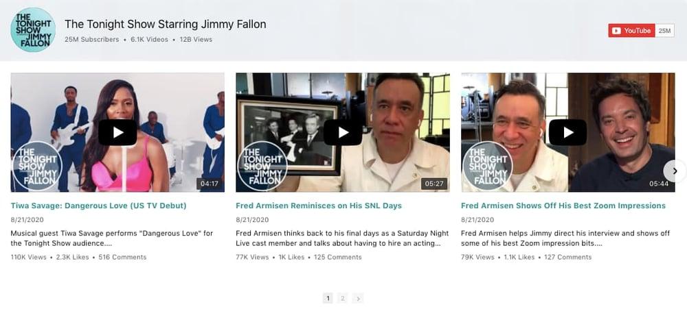 Elfsights YouTube Plugin Gallery demo