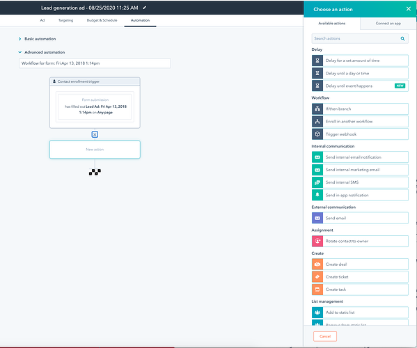 Embedded workflows automation