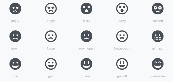 Emoji free icon set