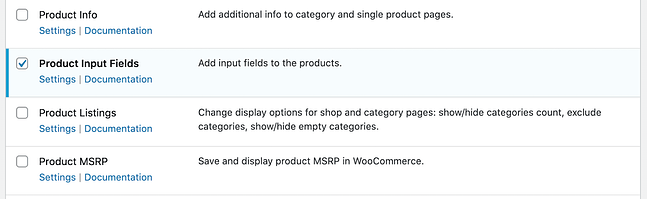 Enabling product input fields via Booster for WooCommerce plugin
