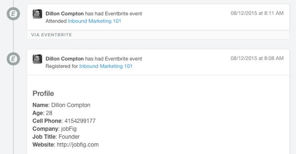 Eventbrite + HubSpot integration