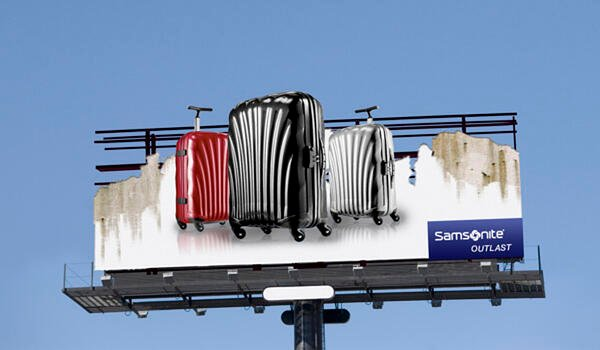 billboard advertising samsonite