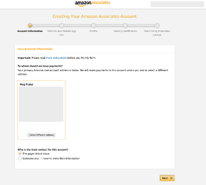 providing your amazon associates account information