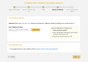 verifying your amazon associates account identity