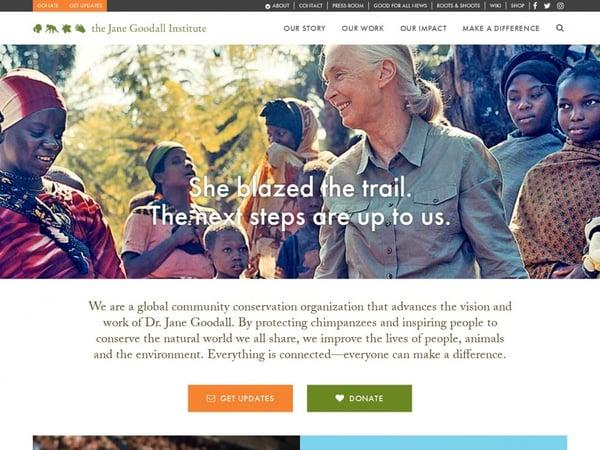 jane goodall website on wordpress