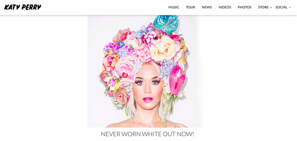 katy perry homepage wordpress