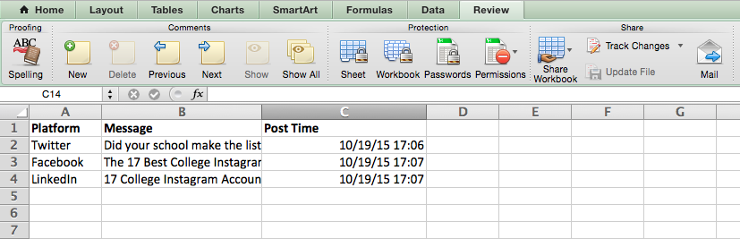 Insert a current date and time into a cell in Excel